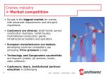 cranes industry market competition