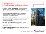 cranes industry technology and innovation