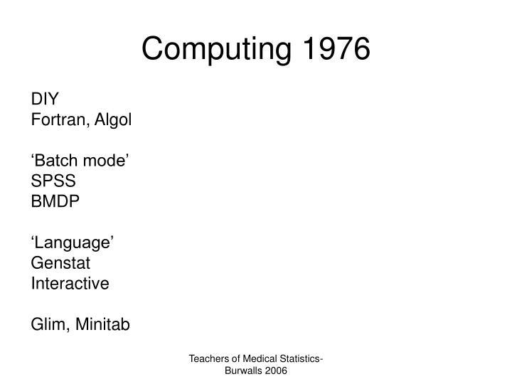 Computing 1976