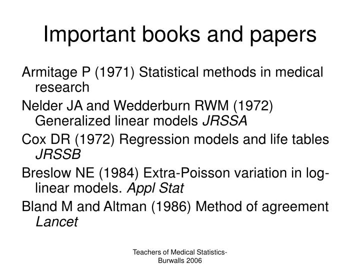 Important books and papers