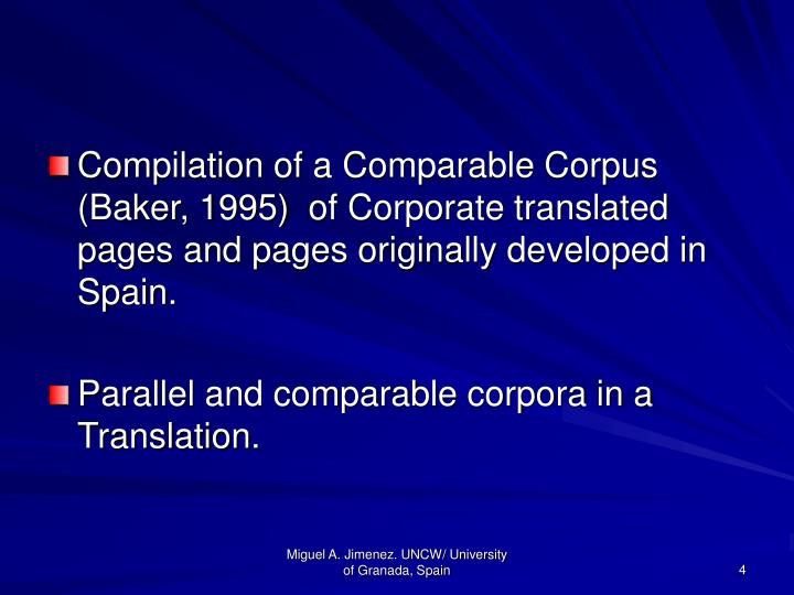 Compilation of a Comparable Corpus