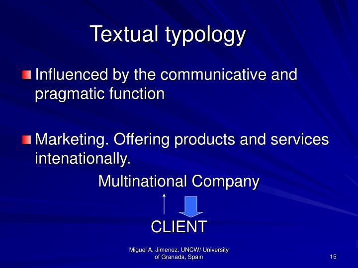 Textual typology