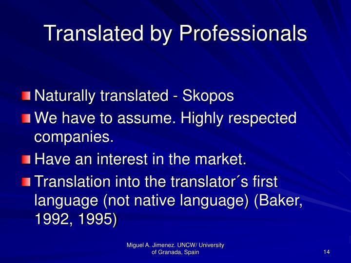 Translated by Professionals