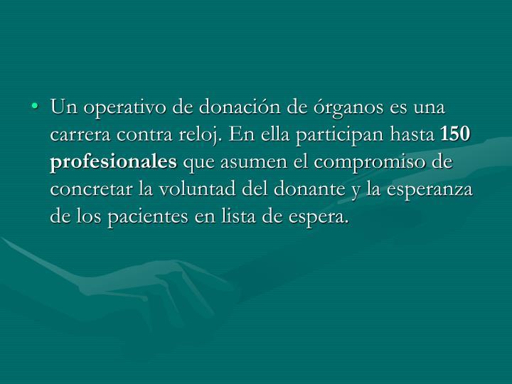 Un operativo de donación de órganos es una carrera contra reloj. En ella participan hasta