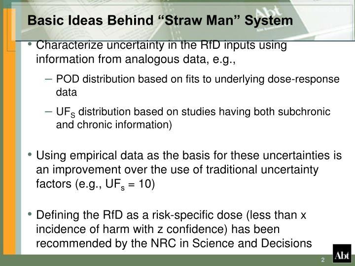 """Basic Ideas Behind """"Straw Man"""" System"""