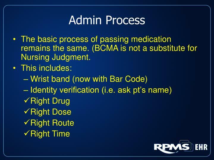 Admin Process
