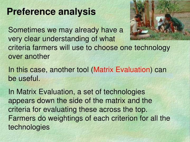 Preference analysis