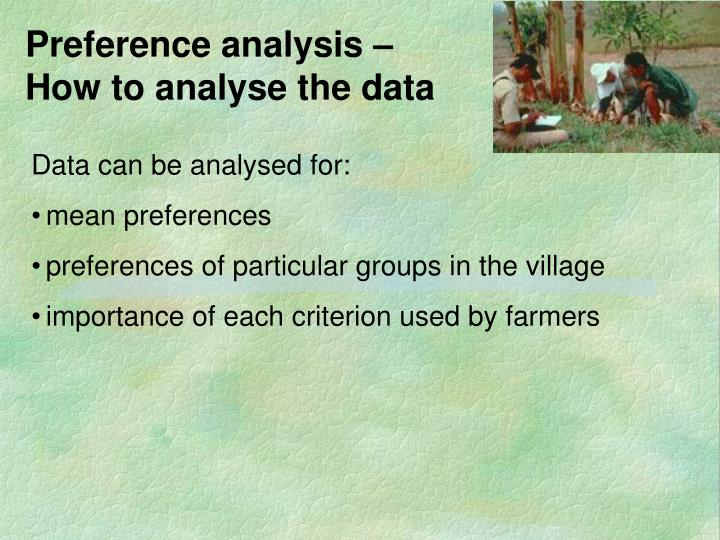 Preference analysis –