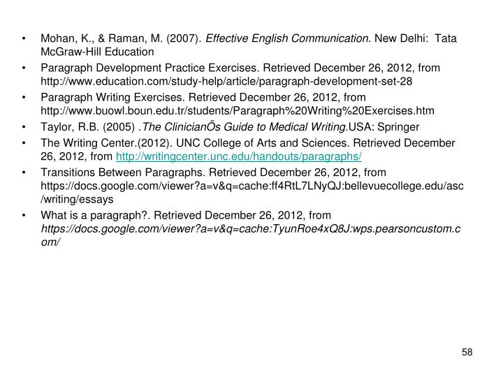 Mohan, K., & Raman, M. (2007).