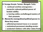 d foreign threats tartars mongols turks