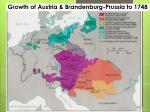 growth of austria brandenburg prussia to 1748