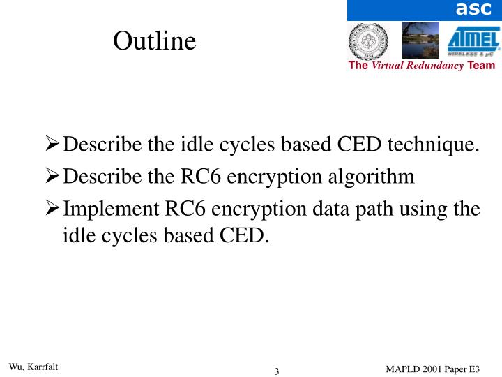 Describe the idle cycles based CED technique.