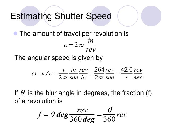 Estimating Shutter Speed
