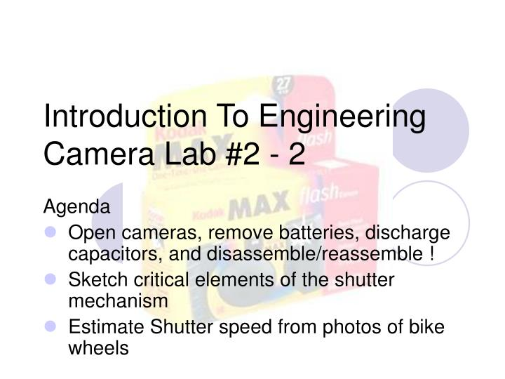Introduction to engineering camera lab 2 2