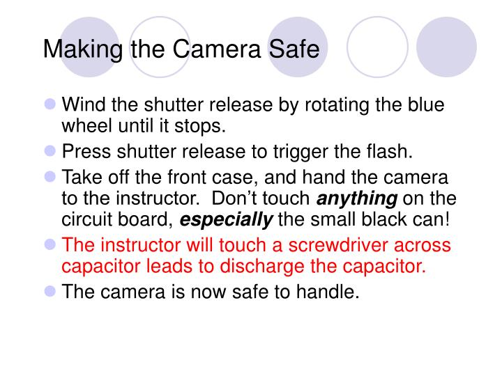 Making the Camera Safe