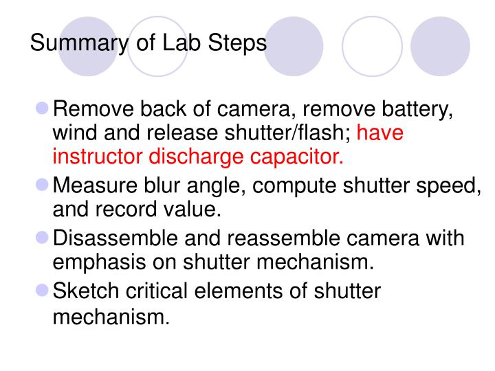 Summary of Lab Steps