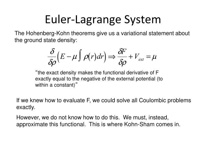 Euler-Lagrange System