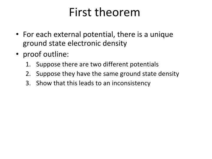 First theorem