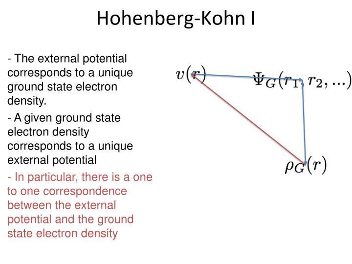 Hohenberg-Kohn I