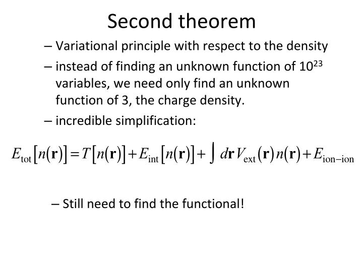 Second theorem