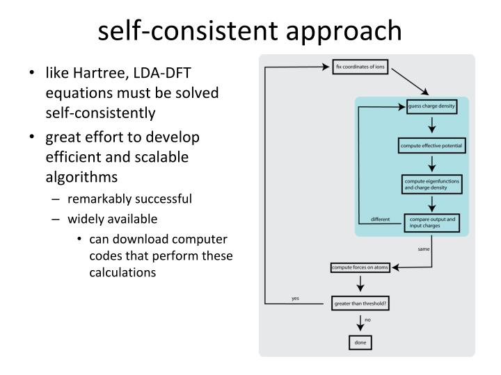 self-consistent approach