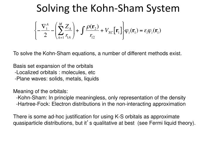 Solving the Kohn-Sham System