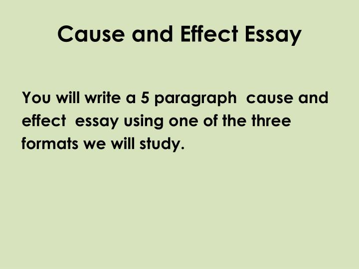 Cause and effect essay1