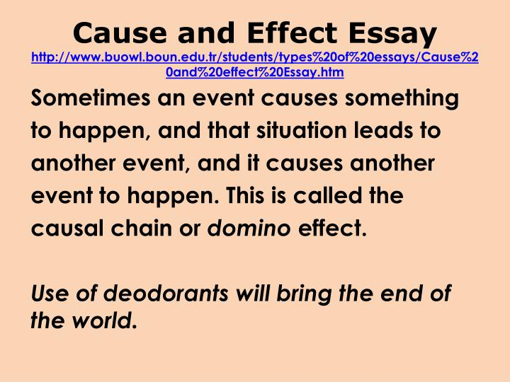 Cause and Effect Essay