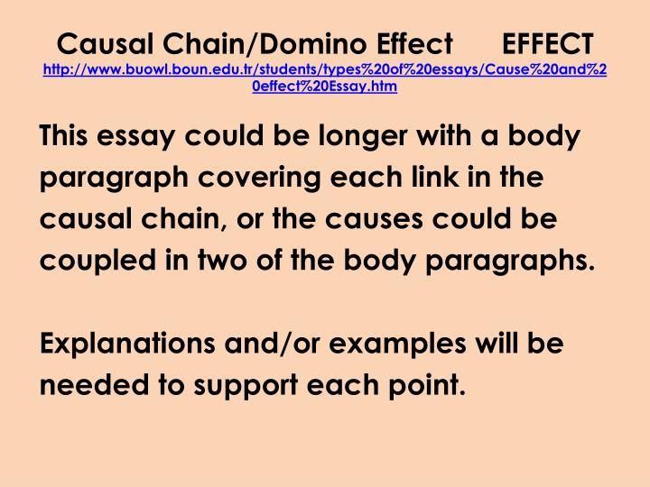 Causal Chain/Domino Effect
