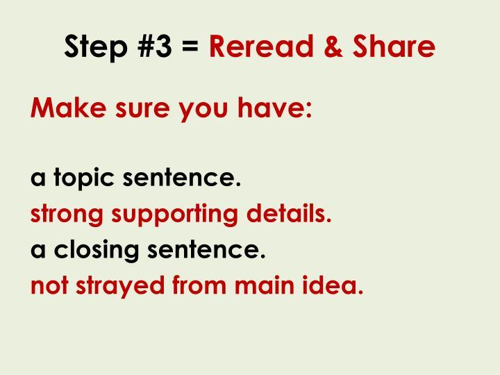 Step #3 =