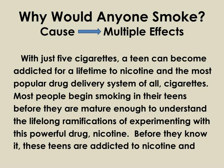 Why Would Anyone Smoke?