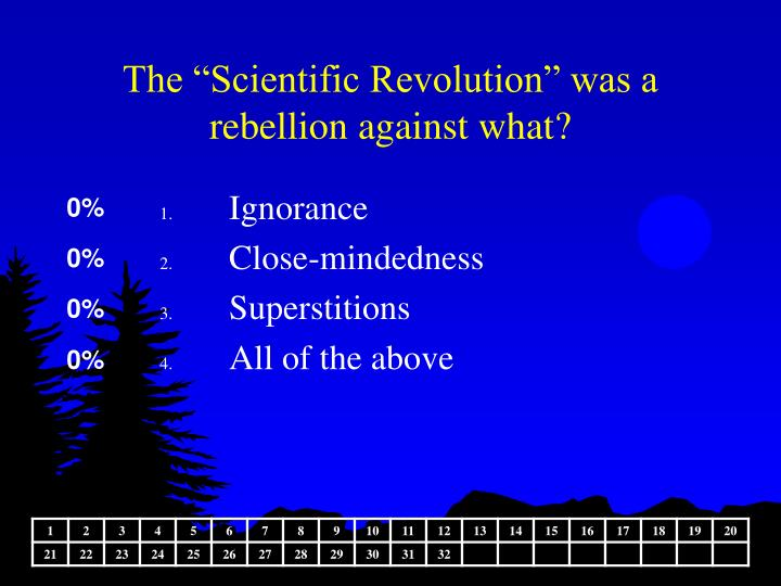 """The """"Scientific Revolution"""" was a rebellion against what?"""
