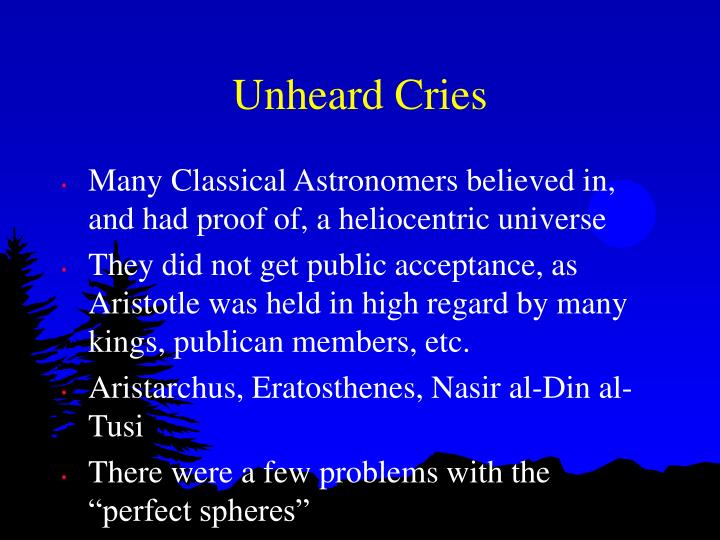 Unheard Cries