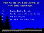 what was the flaw in the copernican view of the solar system