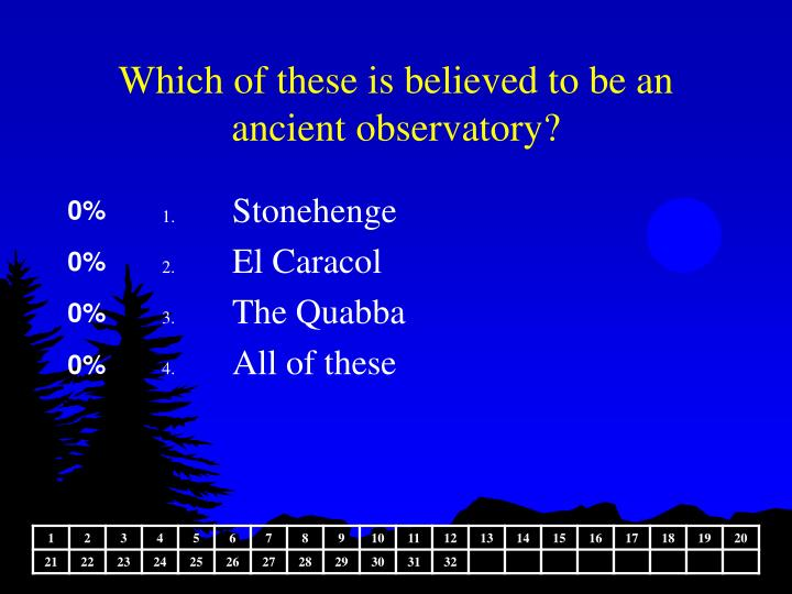 Which of these is believed to be an ancient observatory?