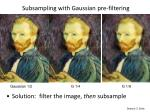subsampling with gaussian pre filtering