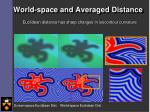 world space and averaged distance2