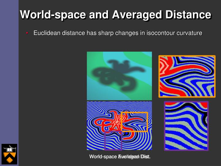 World-space and Averaged Distance