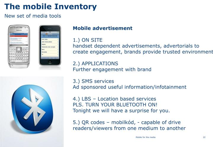 The mobile Inventory