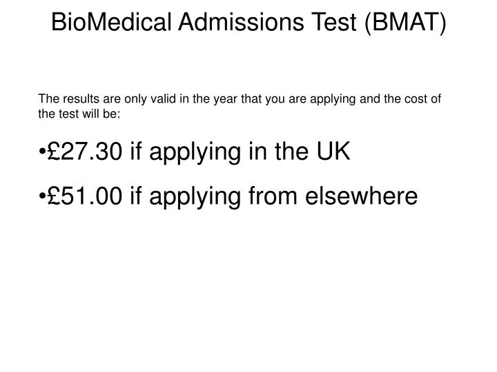 BioMedical Admissions Test (BMAT)
