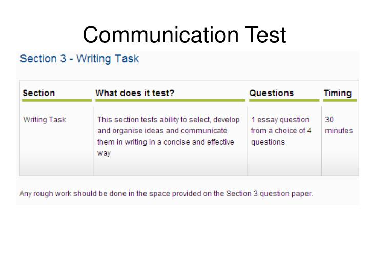 Communication Test