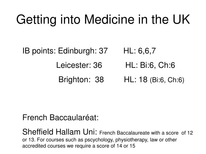 Getting into medicine in the uk