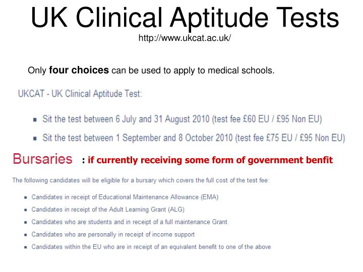 UK Clinical Aptitude Tests