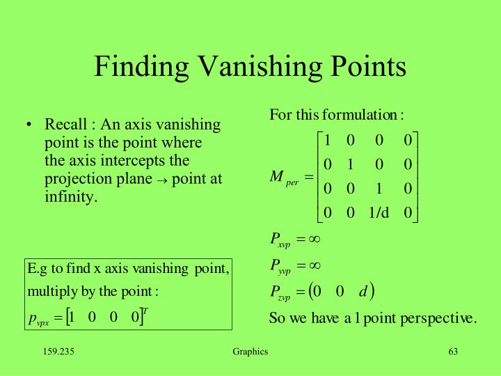 Finding Vanishing Points