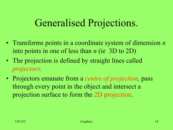 Generalised Projections.