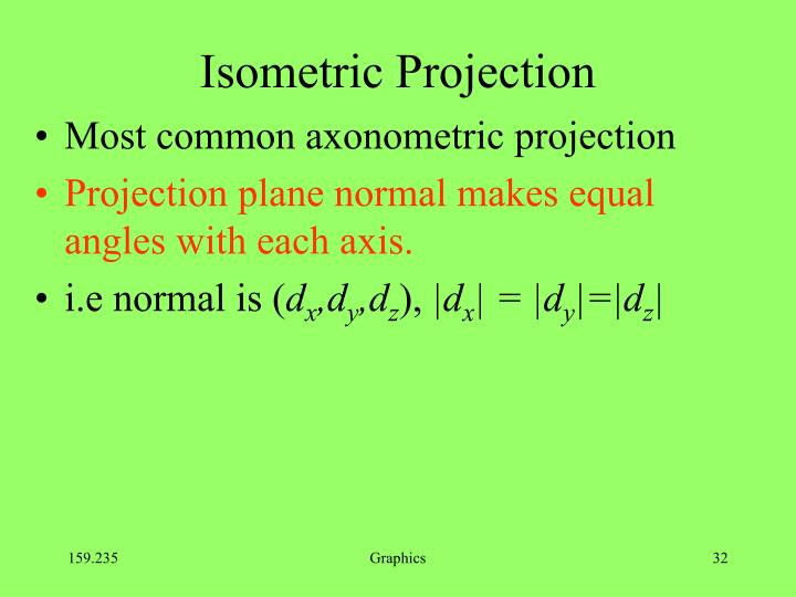 Isometric Projection