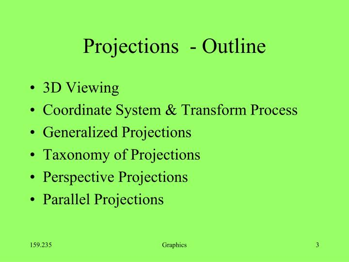 Projections  - Outline