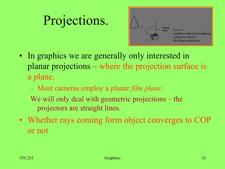 Projections.