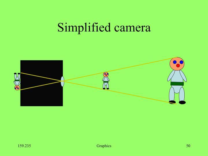 Simplified camera