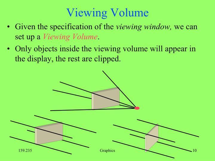 Viewing Volume
